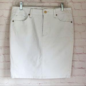 [American Eagle NWT white denim pencil skirt Sz 6